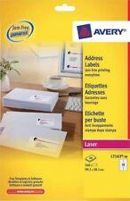 Avery  Laser Jam Free White Address 14 Labels Per Sheet 40 In Box L7163
