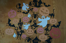 Mixed Lot 25 Halloween Cut Outs- Ghost, Spiders, Witch, Pumpkin, Bats. Cardstock