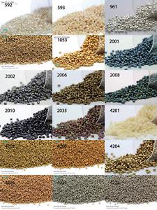 Miyuki Round Rocailles 15/0 Seed Beads - 10grs Bag Various colors - PS32