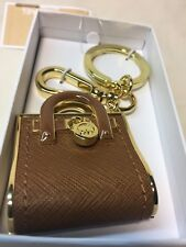 MIchael Kors- Luggage/Brown Colored Hamilton Tote Key Fob-New in Box