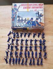 Airfix HO-OO 1/72 ACW Union Infantry Plastic Figures x48 Early boîte de fenêtre
