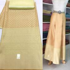 2 PCS. of Luxury Luster Gold Thai silk fabric for sarong or dress skirt
