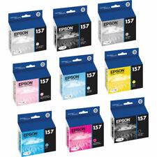 New Genuine Epson 157 9PK Ink Cartridges In Original Oem Bags