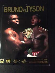 Programm Boxen : Schwergewicht  Mike Tyson - Frank Bruno ; 16.03.1996