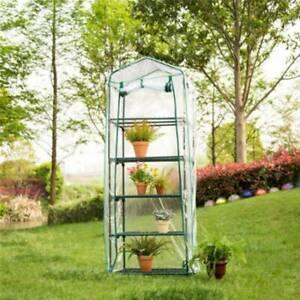 2/3/4/5 Tier PVC Mini Greenhouse Garden Yard Steel Frame Plant Grow House &Home