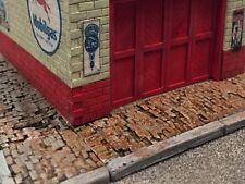 Bar Mills 2020 HO Scale  60' Weathered Brick Sidewalk 5 Pcs  MODELRRSUPPLY-com
