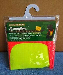 Remington Dog Chest Protector Medium 36-60 pounds, Hunter Orange / Yellow