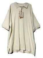 Tommy Bahama Mens Light Yellow Silk Blend Short Sleeve Polo Shirt Size Large New
