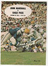 1963 Texas High School Football Program John Marshall v Eagle Pass 10/18 49487