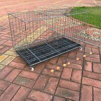150cm Pet Enclosure Rabbit Hutch Chicken Coop Guinea Pig Ferret Cage Hen Wheels