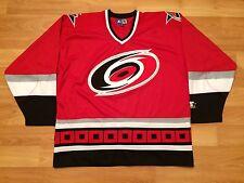 90's CAROLINA HURRICANES JERSEY MENS XL VINTAGE STARTER RED BLACK NHL HOCKEY