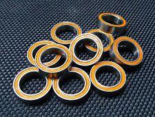 (10 PCS) 6702-2RS (15x21x4 mm) Rubber Sealed Ball Bearing Bearings 6702RS Orange