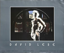"""Naked Man In Window  By David Lebe """" Vintage Paul Cava Gallery 1982 offset litho"""