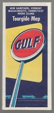 [17079] Circa 1950's GULF OIL CO. TOURGIDE MAP for NEW HAMPSHIRE, VERMONT, MASS.