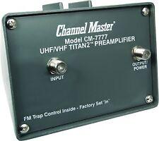 Channel Master CM-7777 TITAN 2 Antenna Preamplifier - UHF VHF FM CM 7777 Preamp