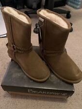 Bearpaw Women's Adele Fur Lined Snow Boots - Hickory Brown - Size: 8