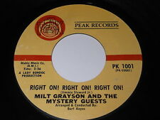 Milt Grayson And The Mystery Guests: Right On! Right On! Right On! 45-Soul Funk