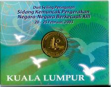 Malaysia NAM Coin Card 2003 BU