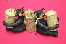Willie Bear Salt & Pepper Shaker & Toothpick holder