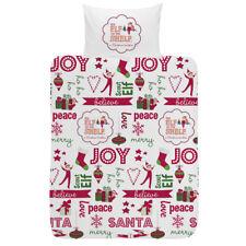 LIT JUNIOR SET Housse de couette Elf on the Shelf LITERIE 100% coton noël