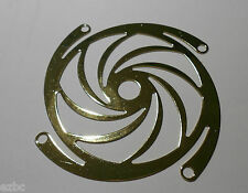 "NEW LOT OF (3) 80mm STEEL LASER CUT FAN GRILL GUARD ""GOLD TURBINE"""