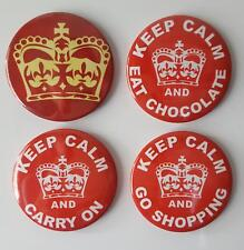 Keep Calm Button Fridge Magnets  set of 4 by T Squared