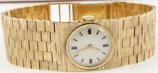 Swiss 9 carat gold Vintage lady's wrist watch 6.5 inch integral bracelet Working