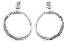 Clip su orecchini a cerchio-Orecchino a cerchio argento anticato-KAMA S