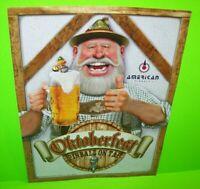 Oktoberfest Pinball On Tap FLYER Original NOS Game Beer Drinkers Promo Artwork