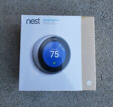 New Nest T3007ES  3rd Generation Stainless Steel Thermostat