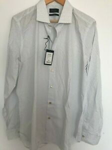 """Paul Smith Gents Formal Tailored Shirt in Square Print Size 15"""" -17.5"""" -RRP £180"""