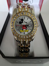 New Disney Mickey Mouse Ladies, Two.Tone Watch.Quartz.New/Box/ warranty.Free Shp