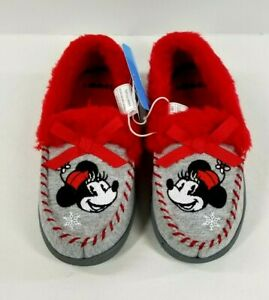 Disney Store Minnie Mouse Moccasin Loafer Slipper Shoes Toddler Size 13 NWT