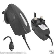 Quality CE RoHS Approved Micro USB UK Wall Socket 3 Pin Plug Mains Charger Black