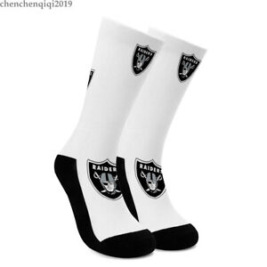 Las Vegas Raiders Socks Football Fans Soft Crew Socks One Pair Sweat Absorbing