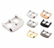"""Tang Buckle for Watch Bands, Model """"Classic"""" 16-22 mm, 5 colors, new!"""