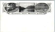 ROCKLAND, Maine  ME    3 Views  GLIMPSES of MIRROR LAKE  ca 1900s UDB  Postcard