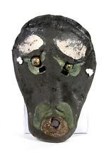 Signed Hand Painted Casted Large African Mask Wall Hanging Decor