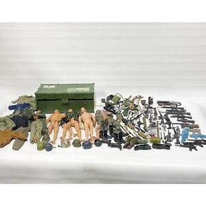 "Large Lot Vintage GI Joe 12"" Action Figures Clothing Weapons Accessories - As Is"