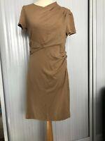 NEW £690 Catherine Malandrino draped merino wool dress. L, fits like M. US-made
