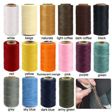 1MM Width 260m Flat Waxed Thread Dacron Cord For Handcraft Leather Industry 150D