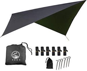 ODSE Outdoor Skye 10x10 Feet Rain Fly Hammock Tent Tarp for 2000PU Waterproof -