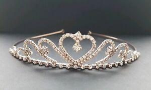 Childs Wedding/Flower/communion crystal Tiara/Headband - Rose gold Kids Size 111