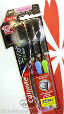 Colgate Charcoal Bristles Deeper & Gentle Clean Toothbrush 0.01mm slim soft 3pcs
