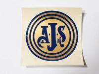 Vintage Original A.J.S. Motorbike Tank Helmet Badge DECAL #D5c *