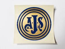 Vintage Original A.J.S. Motorbike Tank Helmet Badge DECAL #D5c *