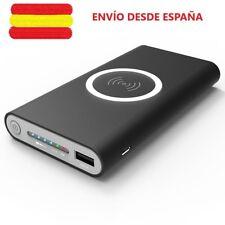 QI Wireless Powerbank Bateria Cargador inalámbrico portatil 10000mAH universal