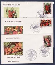 Polynésie   enveloppe  1er jour   journée des mille fleurs   1971