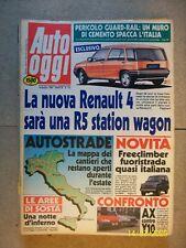 AUTO OGGI=N° 134 DEL 1989=RENAULT 4+BERTONE FREECLIMBER+CITROEN AX+Y10 LX i.e.