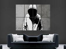 Sudadera con capucha Graffiti BANKSY Estilo Arte Pared Imagen Grande Poster Gigante!